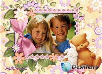 Рамка детская для Photoshop – Друзья