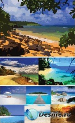 Векторный клипарт - Море, Пляж