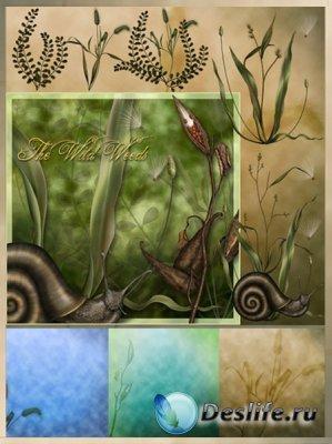 Скрап-набор - Wild Weeds / Дурман-трава