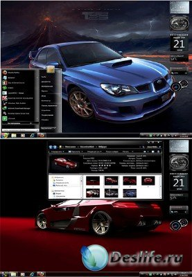 Тема для Windows 7 - Cars Red on Black