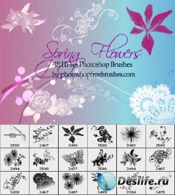 Весенние цветы 2 - Кисти для Фотошопа