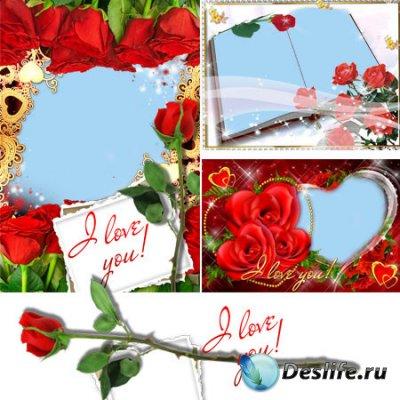 Рамки для фотошопа - Красные розы