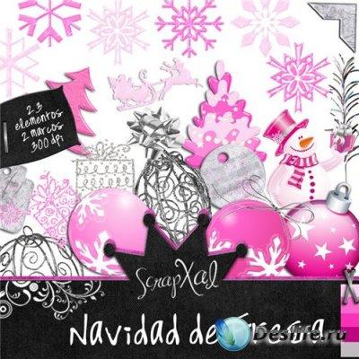 Скрап-набор - Navidad de Fresa