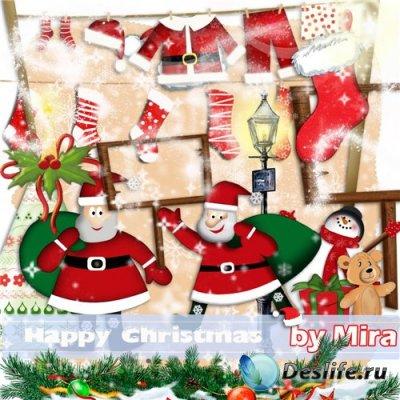 Скрап-набор для фотошопа - (Счастливое Рождество) Happy Christmas
