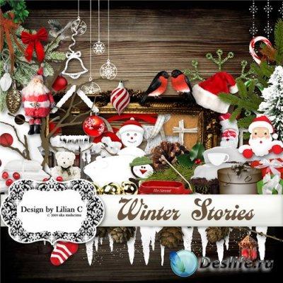 Скрап-набор для фотошопа - Winter Stories от Lilian