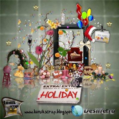 Скрап-набор для фотошопа - Holiday