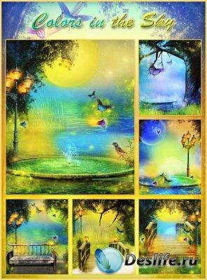 Фоны для фотошопа цвета неба