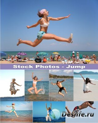 Stock Photos - Прыжки на пляже (Jumps on the Beach)