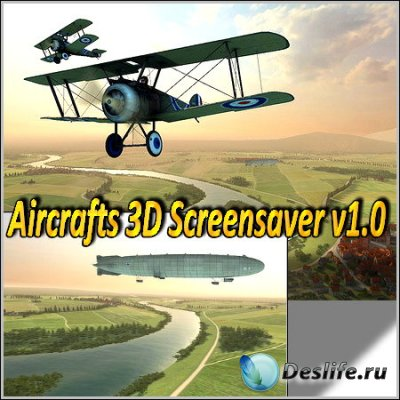 Aircrafts 3D Screensaver v1.0 Rus