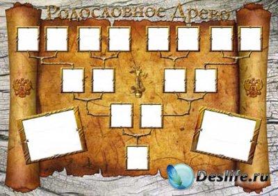 Шаблон генеалогического древа семьи для детей
