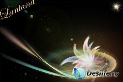 PSD исходник  - Sparkling Flower