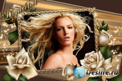 Рамка для фотошопа - Golden Rose