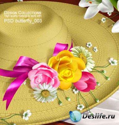 PSD исходник для фотошопа - Butterfly 3