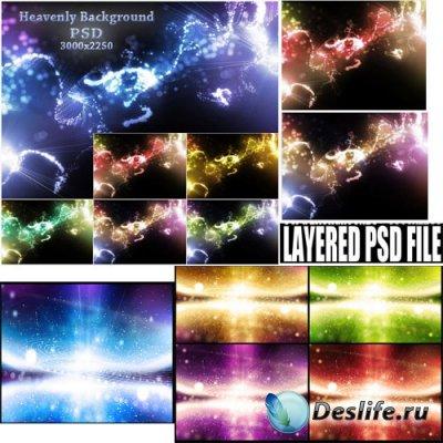 PSD исходники - Небесные фоны (Heavenly backgrounds)