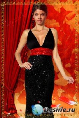 Женский костюм для фотошопа - Super Star