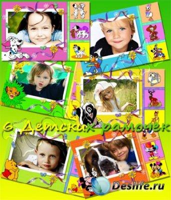 Детские рамки для фотомонтажа - Мультфильмы