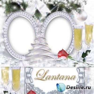 Рамки для фотошопа новогодние - Жемчуг