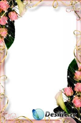 Рамка для фотошопа - Нежные розы