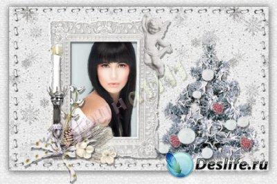 Рамка для фотошопа - Светлое рождество