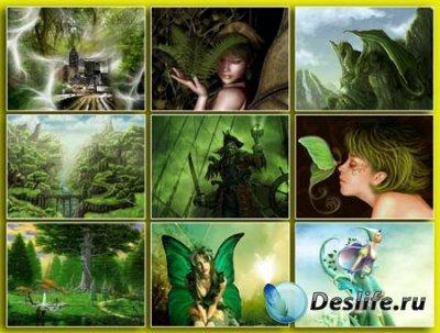 Обои для рабочего стола - Green fantasy