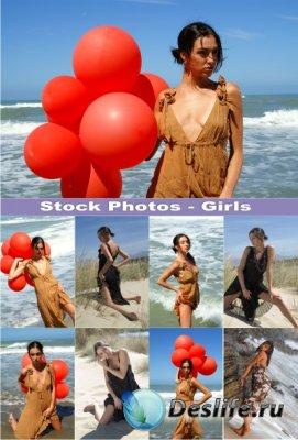 Stock Photos - Девушки на море