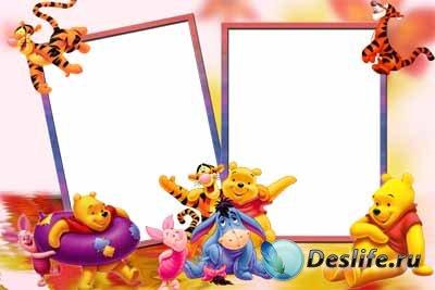Детская рамочка для фотошопа с Вини-Пухом