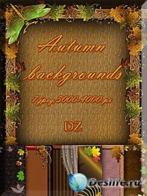 Autumn backgrounds - Осенние фоны для фотошопа