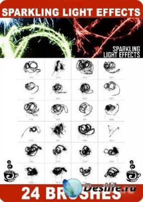 Кисти для фотошопа - Sparkling Light Effects - Искрящиеся световые эффекты