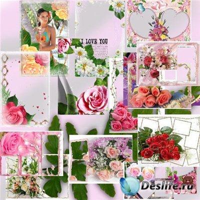 Качественные цветочные фоторамки