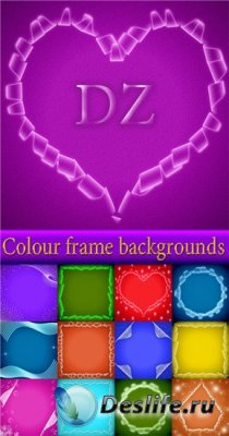Colour frame backgrounds - Текстуры для Фотошопа