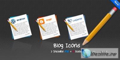 Исходники иконок блог-систем