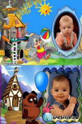 Детские рамки для фотошопа - Мультяшки