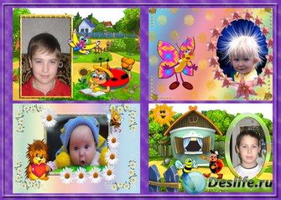 Детские рамочки для Фотошопа - Веселые