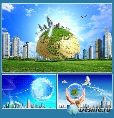 Обои на тему глобуса Земли (подборка №3)