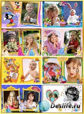 Детские фоторамки с героями мультфильмов Диснея