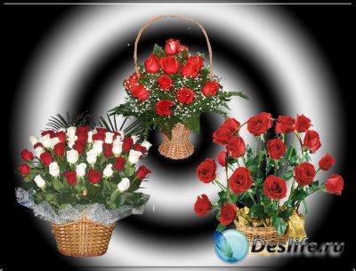 Клипарт – Букеты из роз