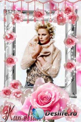 Цветочная рамочка-открытка - Любимые розы