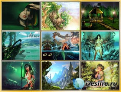 Обои для рабочего стола - Green fantasy 2