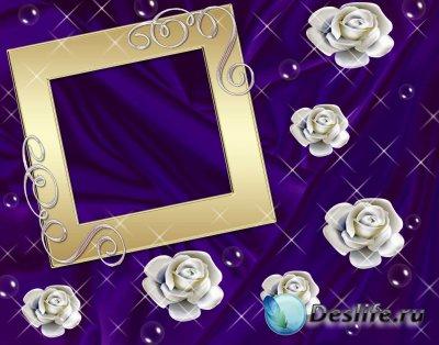 Рамка для фотошопа - Золотая Прохлада