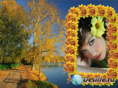 Золотая осень - Рамка для фотошопа
