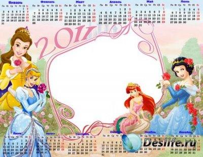 Детский Календарь 2011 с принцессами