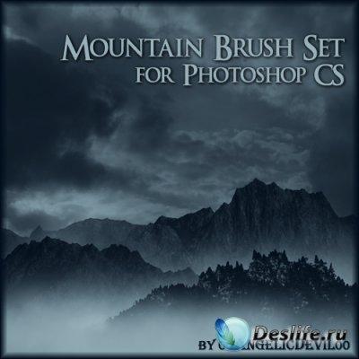 Кисти для фотошопа - Mountain Brush Set