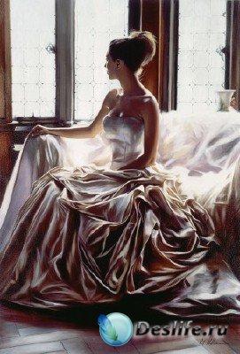 Женские образы от художника Rob Hefferan