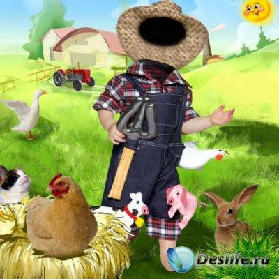 Костюм для фотошопа – Маленький фермер