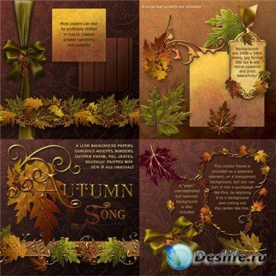 Скрап-набор для Photoshop – Осень золотая