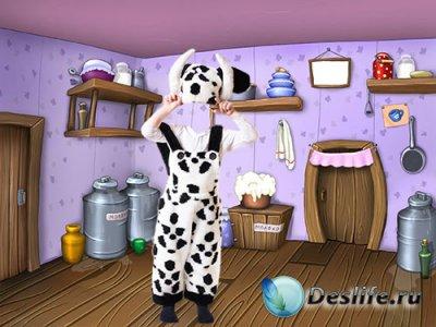 Детский костюм для фото - Молоко
