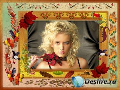 Рамка для фотошопа - Осенние мотивы
