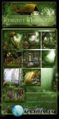 Фоны для фотошопа - Fantasy Woodland Backgrounds