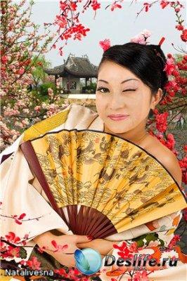 Женский костюм для фотошопа – Японская Красавица