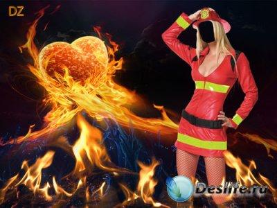 Костюм для фотошопа - Потуши пожар в моем сердце